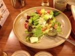 Salad with the sashimi...
