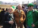 "Aingeal, Oliver Cunningham and an American of Irish-Jewish heritage (""I'm Oye-rish"" says the shirt)"
