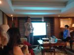 Kwon Joon-mo giving the talk