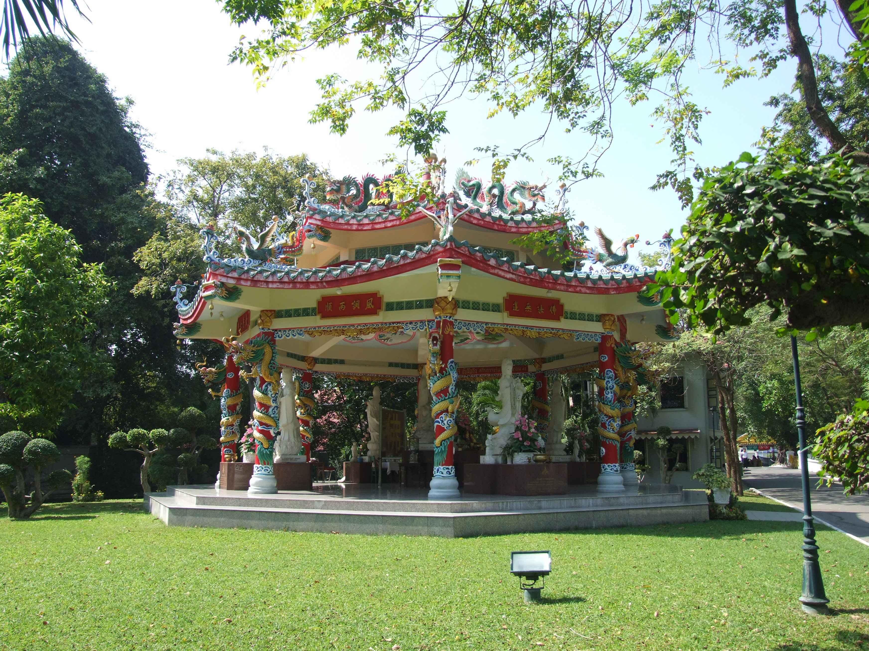 Shrine near the teak palace.  Discrete.