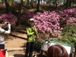 Azalea Garden, with our guide